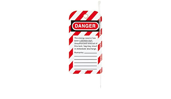 Lockout Equipment When Done Styrene Tag with Reverse Side Dismissal Warning 3 Width 5-3//4 Length 3 Width North Safety Danger 5-3//4 Length