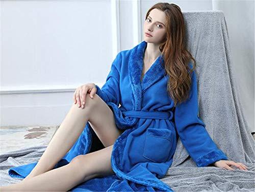 Invierno Sección Larga Caliente Los Espesar Casa Y Albornoz Amantes De Suave Bata Mujer Franela Baño Pijama Lujoso Mantener Noche Mujeres Hombres l aBqwxZ