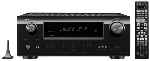 Denon AVR-791 7.1 Channel AV Home Theater Multi-Source/Multi-Zone Receiver with HDMI 1.4a supporting 1080p and 3D (Black)