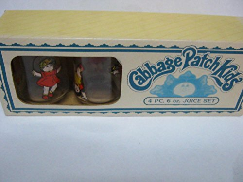 Cabbage patch kids 6oz 4 piece glass set, packaging for sale  Delivered anywhere in USA