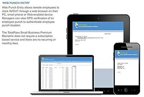 Icon Time Systems TP-BIO TotalPass Small Business Premium| Biometric Time  Clock