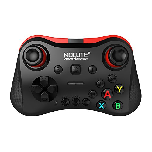 Price comparison product image Ronda MOCUTE 056  VR Game Pad Wireless Bluetooth Controller Selfie Remote Control Shutter Gamepad for Android Joystick IOS PC Smart Phone (Black)