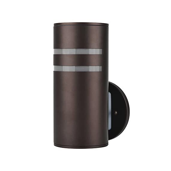 Outdoor Wall Lamp,Naturous PLW05 Waterproof Cylinder Porch Light, Modern Outdoor Lighting, UL US Listed, Painted Brown Wall Sconce, Suitable for Villa - Modern Outdoor Wall Lamp: Made of Stainless Steel(light body) and Aluminum Alloy(up/down lids), Sealed with Silicone adhesive, Painted Brown. UL listed. Nice for exterior porch, patio, garden,open field,indoor and outdoor dual-use. Waterproof IP54: Well-constructed with Weather Resistant & Rust Resistant. - patio, outdoor-lights, outdoor-decor - 4102bfiowwL. SS570  -