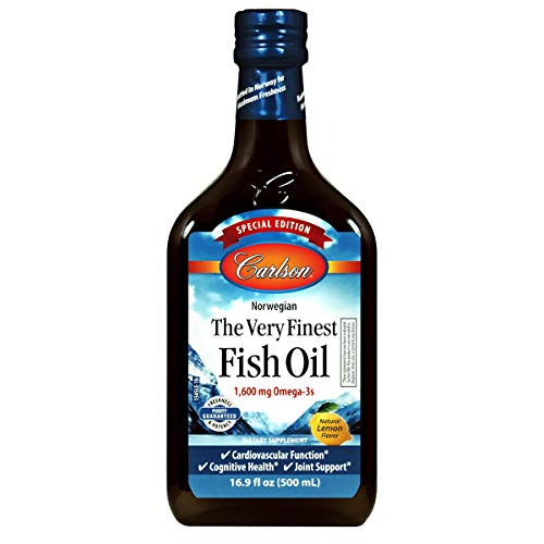 Carlson - The Very Finest Fish Oil, Special Edition, 1600 mg Omega-3s, Norwegian, Sustainably Sourced, Lemon, 500 ml