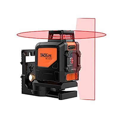Laser Level, SC-L07 3 Mode Laser Level 50 Ft Self-Leveling Horizontal/Vertical Line and Cross-Line with Dual Laser Sources - Laser Class: Class 2 (IEC/EN60825-1/2014), 1mW power output