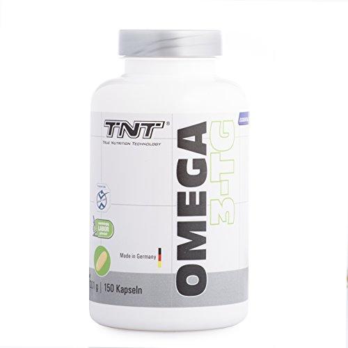 TNT Omega 3-TG │ Hochwertige und essentielle Fettsäuren │ Fischöl-Kapseln mit hochdosiertem EPA & DHA unterstützen die Gesundheit, Fitness und das Immunsystem | Fisch-ÖL - Made in Germany - 150 Kapseln