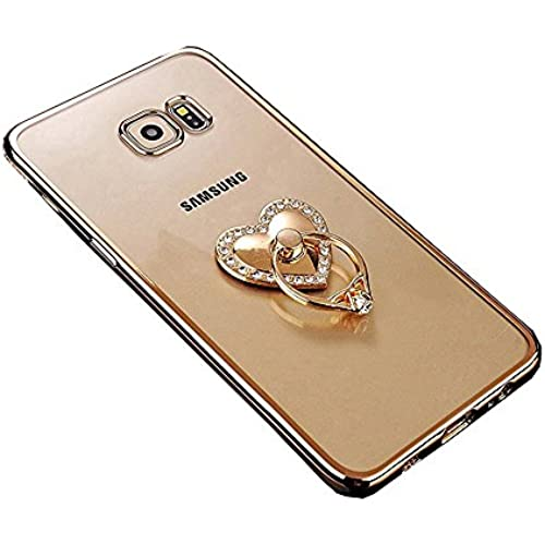 Galaxy S7 Case, TabPow Ornament Series - Slim Luxury Clear TPU Case Cover Bumper With Ring Grip Holder Stand For Samsung Galaxy S7 Sales