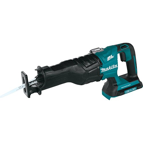 Makita XRJ06Z 18V X2 LXT Lithium-Ion (36V) Brushless Cordless Recipro Saw, Tool Only (Corded Cordless Saw Reciprocating)