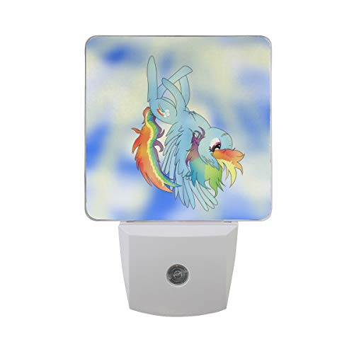 Night Light Rainbow Cute Animal Led Light Lamp for Hallway, Kitchen, Bathroom, Bedroom, Stairs, DaylightWhite, Bedroom, Compact -