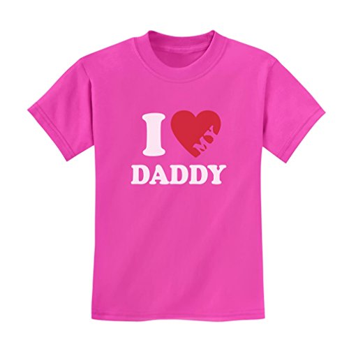 (I Heart Love My Daddy Boy Girl Gift Idea for Father Kids T-Shirt 2T Pink)
