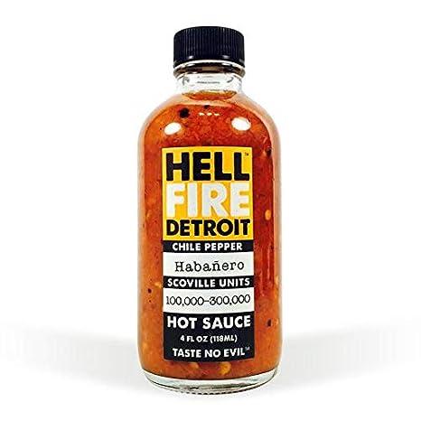 Hell Fire Detroit Habanero Hot Sauce