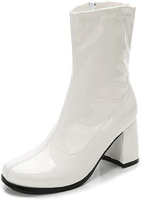 LIURUIJIA Women's Go Go Boots Mid Calf