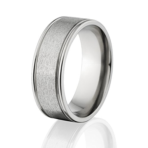Mens Titanium Ring, Premium Titanium Wedding Band