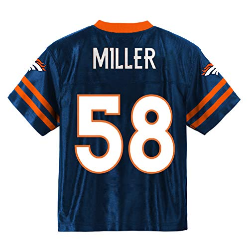 Outerstuff Von Miller Denver Broncos #58 Navy Blue Youth Alternate Player Jersey (Medium 10/12)
