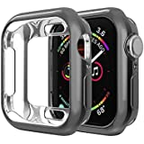 iHYQ for Apple Watch 4 Case 40mm Screen Protector,Scractch-Resist Soft Plated TPU Slim Protective Bumper Cover Compatible for Apple iWatch Series 4 40mm,Black