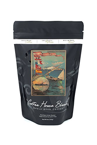 Navigation Mixte Vintage Poster (artist: Alesi, F. Hugo D') France c. 1890 (8oz Whole Bean Small Batch Artisan Coffee - Bold & Strong Medium Dark Roast w/ (Hugo Framed)