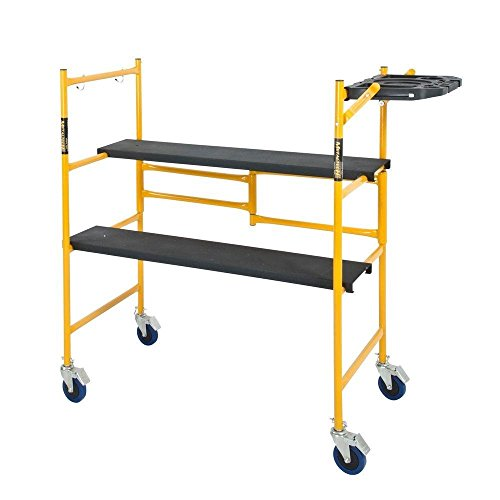 Price comparison product image Metaltech I I-Imcnat I 4 x 4 x 2 Ft. Mini Rolling Scaffold 500 Lb. Load Capacity with Tool Shelf,  4' x 4' x 2'