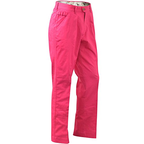 Royal & Awesome Men's Golf Pants, Pink Ticket, 34