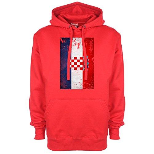 Cappuccio Sideways Con Colore Red Minamo Bandiera Croazia qSaTcdwR
