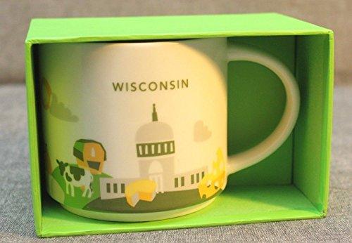 Starbucks Wisconsin Mug You Are Here - Lighthouse Michigan City