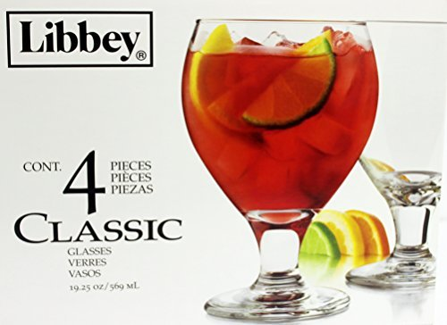 Libbey Classic Sangria Beer Glass, 19.25 Ounce - 4 Count Glass Sangria