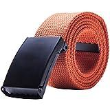 Gespout Ceinture Homme Femme Tissu Orange Casual Sans métal 110cm Pour  Sports Voyages Shoppings Jeans c4f7d742934