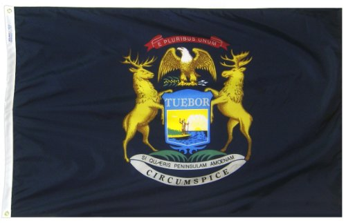 Annin Flagmakers Model 142660 Michigan State Flag 3x5 ft. Ny