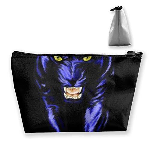 (Panther Leopard Animal Storage Bag Holder Portable Gift for Girls Women Large Capacity Cosmetic Train Case for Makeup Brushes Jewelry Casual Tote Bag)