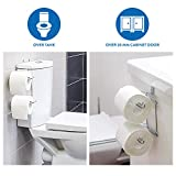 Wonder Worker Clever Over Tank or Cabinet Door Double Toilet Roll Holder Chrome 7.9 X 6.5 X 4.1