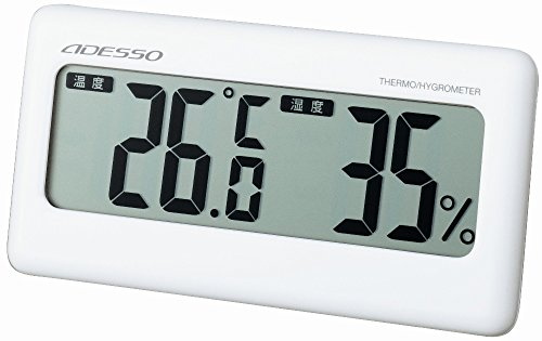 ADESSO ( Adesso ) digital temperature hygrometer White TC-1106