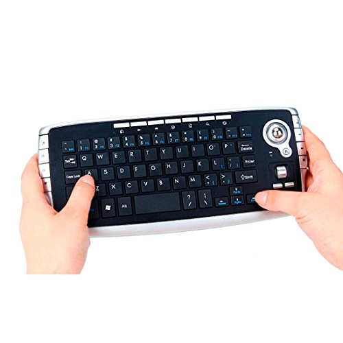 Dreamyth Druable Mini 2.4Ghz Wireless Keyboard Touchpad With Mouse For PC PS4 Smart TV New Gift,American Warehouse Shipment (Black)
