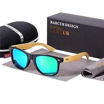 Gafas De Sol De Bambú Polarizadas Hombres Gafas De Sol De ...