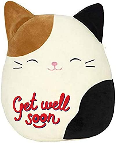 Cute Squishmallow Pre-Customized GET Well Soon Panda Plush Pillow,Plush Animal Best for Visits,Hospital Sick Present Limited Edition