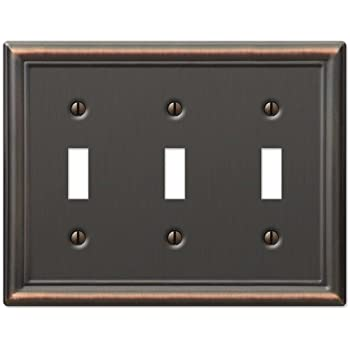 Decorative Wall Switch Outlet Cover Plates (Oil Rubbed Bronze, Blank ...