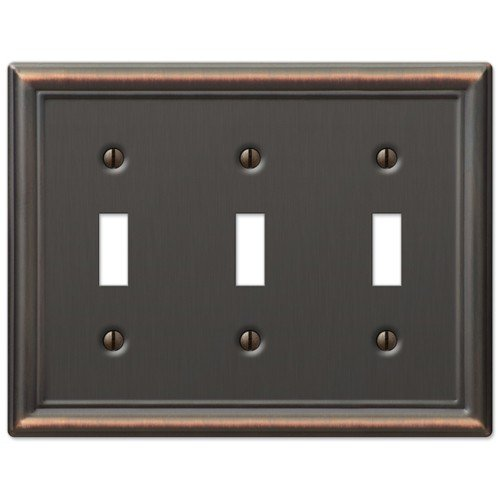 (Decorative Wall Switch Outlet Cover Plates (Oil Rubbed Bronze, Triple Toggle))