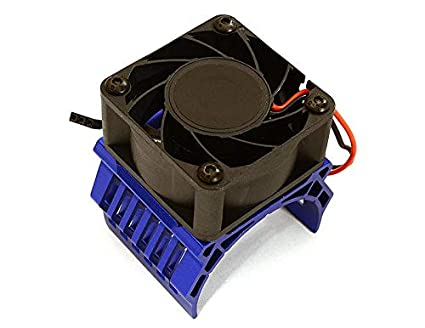 Integy RC Model Hop-ups C28604GREY 42mm Motor Heatsink+40x40mm Cooling Fan 17k RPM for 1//10 Summit /& E-Revo