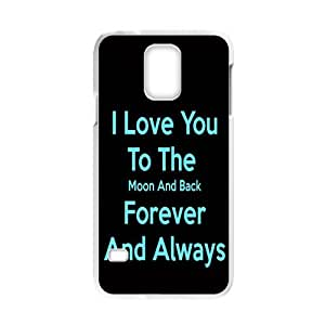 I Love You To The Moon And Back Custom Phone Case For Samsung Galaxy S5 (Laser Technology) Plastic Hard Case Cover Skin