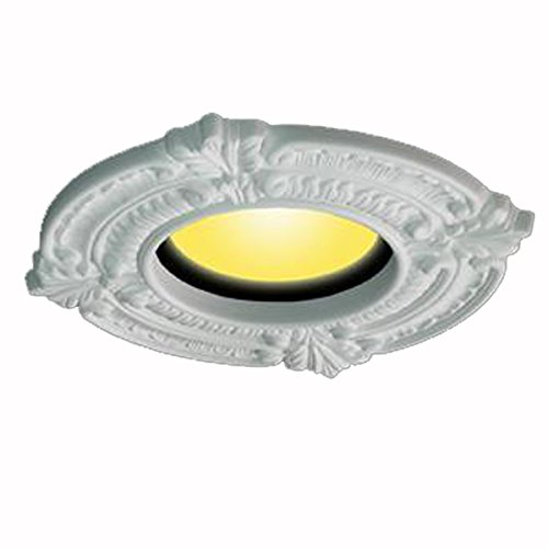 Rosette Trim - White Ceiling Medallion Urethane Recessed Trim Rosette 6