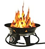 Outland Firebowl 863 Cypress Portable Propane Gas Fire Pit with Cover & Carry Kit, 21-Inch Diameter 58,000 BTU
