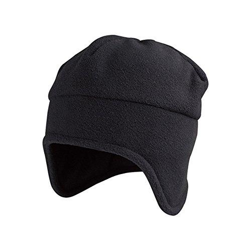 Vintage Year Plain Short Billed Knit Radar With Cuff Beanie (Black (Black Toque)