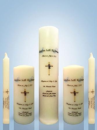 amazon com personalized candle store baptism candle set wick pillar