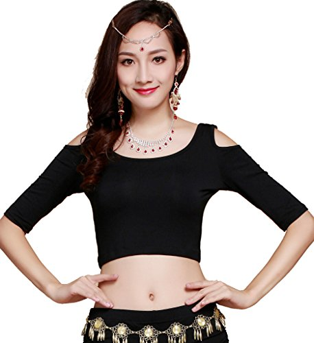 [ZLTdream Belly Dance Short-sleeve top Modal] (Belly Dancing Dress)