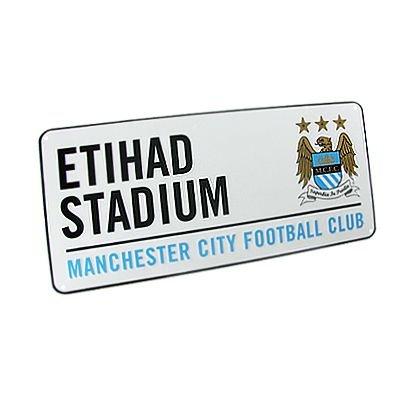 Manchester City FC. 'Etihad Stadium' Métal Signe de Rue