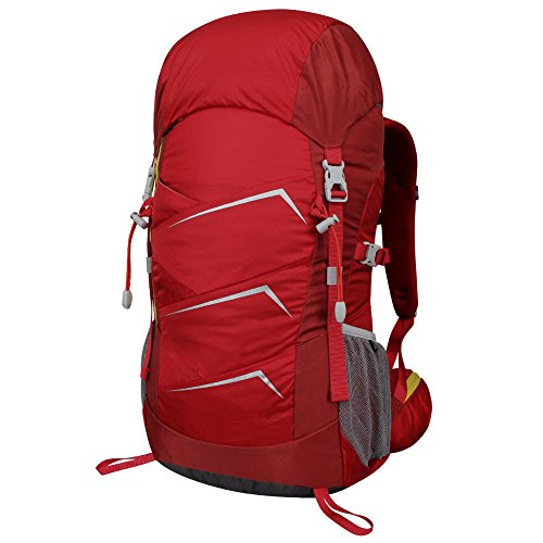 40L Hiking Backpack, WATERFLY Portable Waterproof Lightweight Climbing Knapsack Daypack with Reflective Strips for Cycling Travelling Trekking