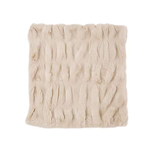 Amazon.com: Glitzhome Funda de cojín de piel sintética de ...
