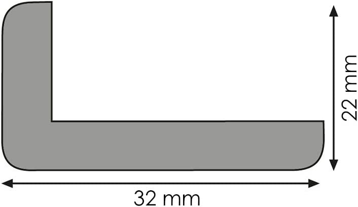 Winkelleiste Schutzwinkel Winkelprofil Tapeten-Eckleiste Abschlussleiste Abdeckleiste aus Kiefer-Massivholz 2400 x 22 x 32 mm