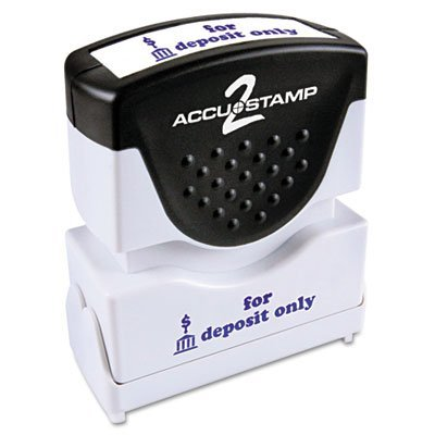 CONSOLIDATED STAMP MFG.,CO. Cosco 1-Color Blue Shutter Stamp with Microban (Consolidated Stamp Plastic Stamp)