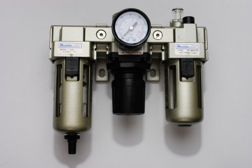 MettleAir AC4000-N04D-1PK Automatic Drain Filter/Regulator/Lubricator with Gauge, 4000 L/minute, 1/2'' NPT by MettleAir