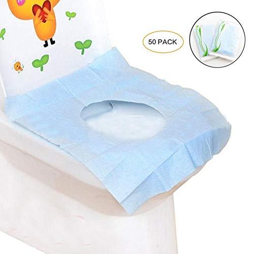 Baiwka Couverture De Papier De Si/ège De Toilette De Papier Jetable De Voyage Portatif De 50 PCS Antid/érapant Voyage S/ûr De Format De Poche Imperm/éable Antibact/érien Emball/é Individuellement