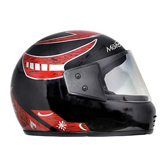 Mototrance full Face Helmet Matt Black (Size-L, 58-59 cm)